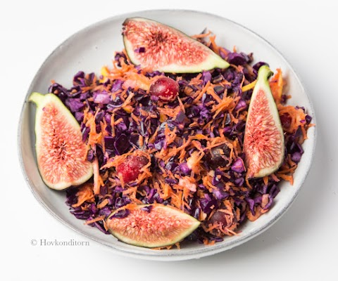Red Cabbage Salad with Cranberries & Figs