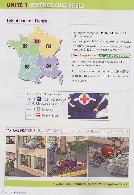 Numery alarmowe we Francji - słownictwo 2 - Francuski przy kawie