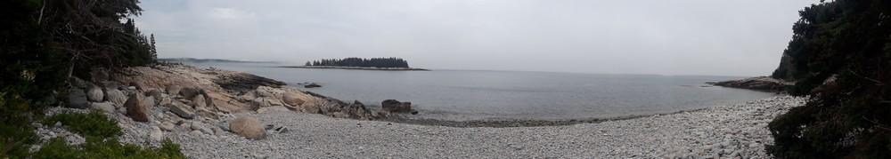 Sur la plage de Scoodic, Acadia National Park