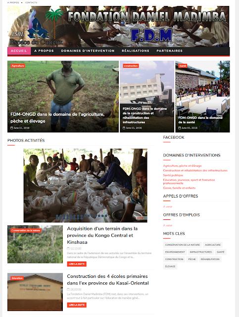 Site internet de la Fondation Daniel Madimba fermé pour cause d'insolvabilité