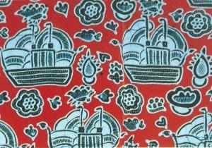Batik Jambi motif kapal sanggat