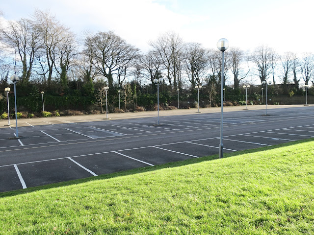 Empty car-park. Christmas Day 2017