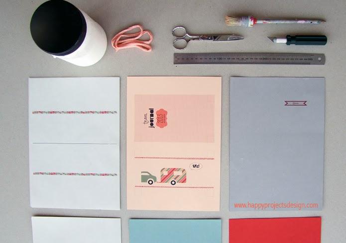 DIY Cuaderno de viaje: materiales