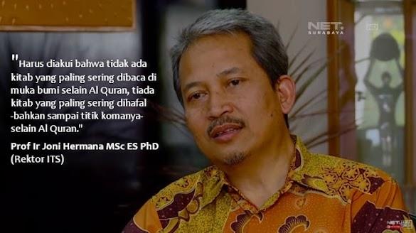 Mengagumkan! Rektor ITS Bicara tentang Mukjizat Al-Qur'an