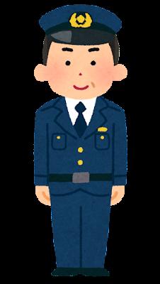 警察官のイラスト(男性・中年)