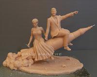 statuette realizzate a mano matrimonio a tema idea regalo coppia orme magiche