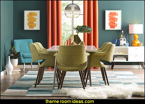mid century modern furniture   mod retro home decor