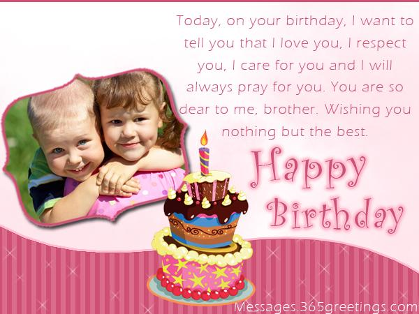 Birthday Wishes For Young Brother