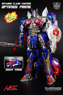 Custom Transformers The Last Knight Optimus Prime by Hunter Knight Customs