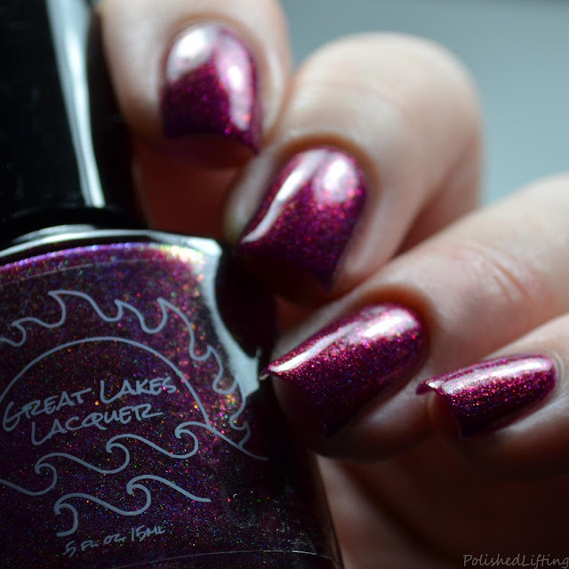 berry holo nail polish