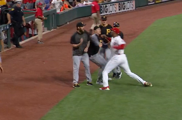Reds pitcher Amir Garrett charges Pirates dugout 7/30/2019