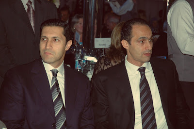 Alaa and Gamal Mubarak