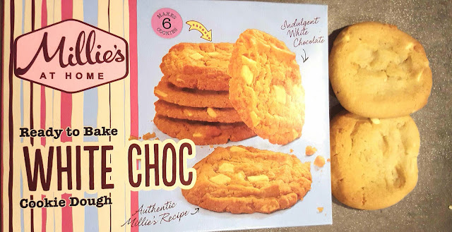 Iceland Foods, Millie's Cookies at Home. Ready to bake white choc chip cookies