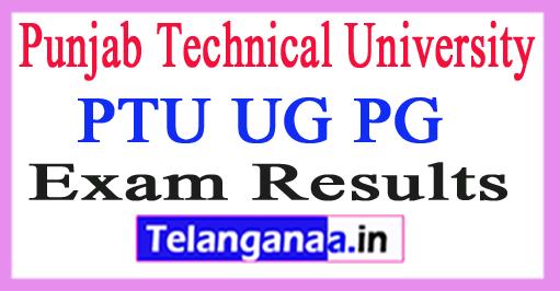 Punjab Technical University Results 2018 PTU UG PG Results 2018