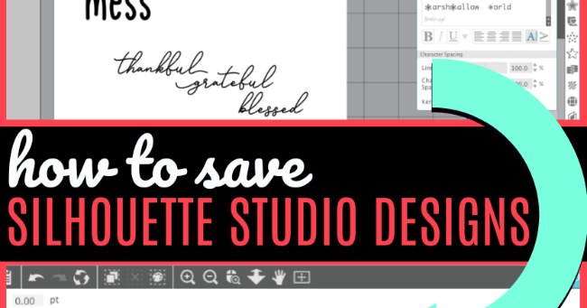 How To Save As Svg In Silhouette Studio And Jpeg And Pdf Too Silhouette School
