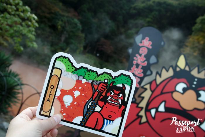 Gotochi card challenge, Chinoike Jigoku, Beppu, Oita