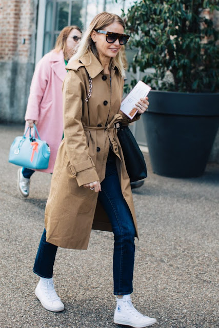 trench coat with converse