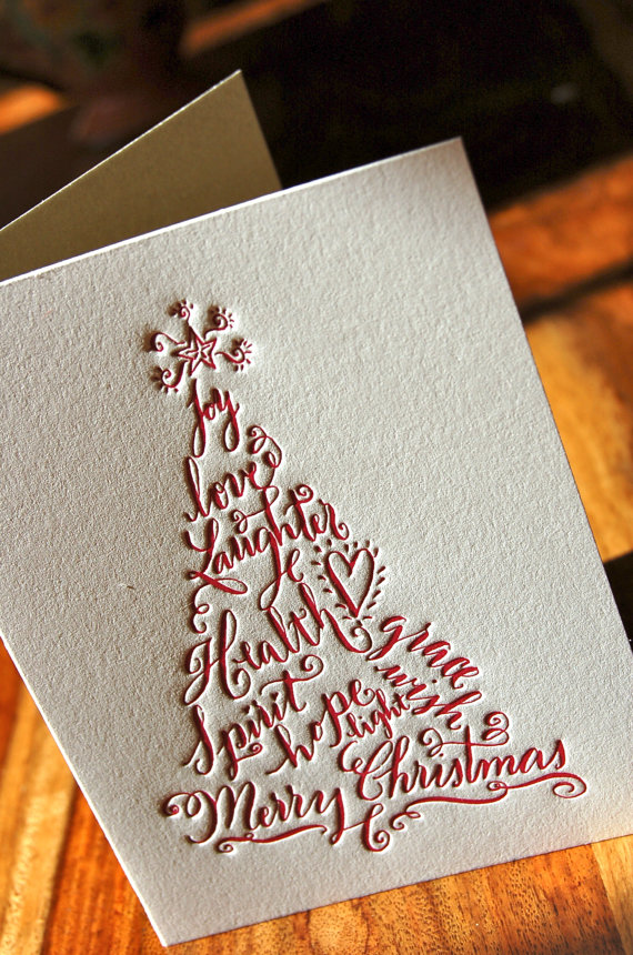 nesting instincts my favorite letterpress christmas cards