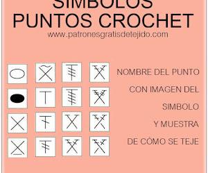 Símbolos de Puntos Crochet - Lista completa