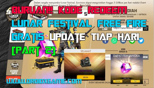 Buruan!! Kode Redeem Lunar Festival Free Fire Gratis, Update Tiap Hari