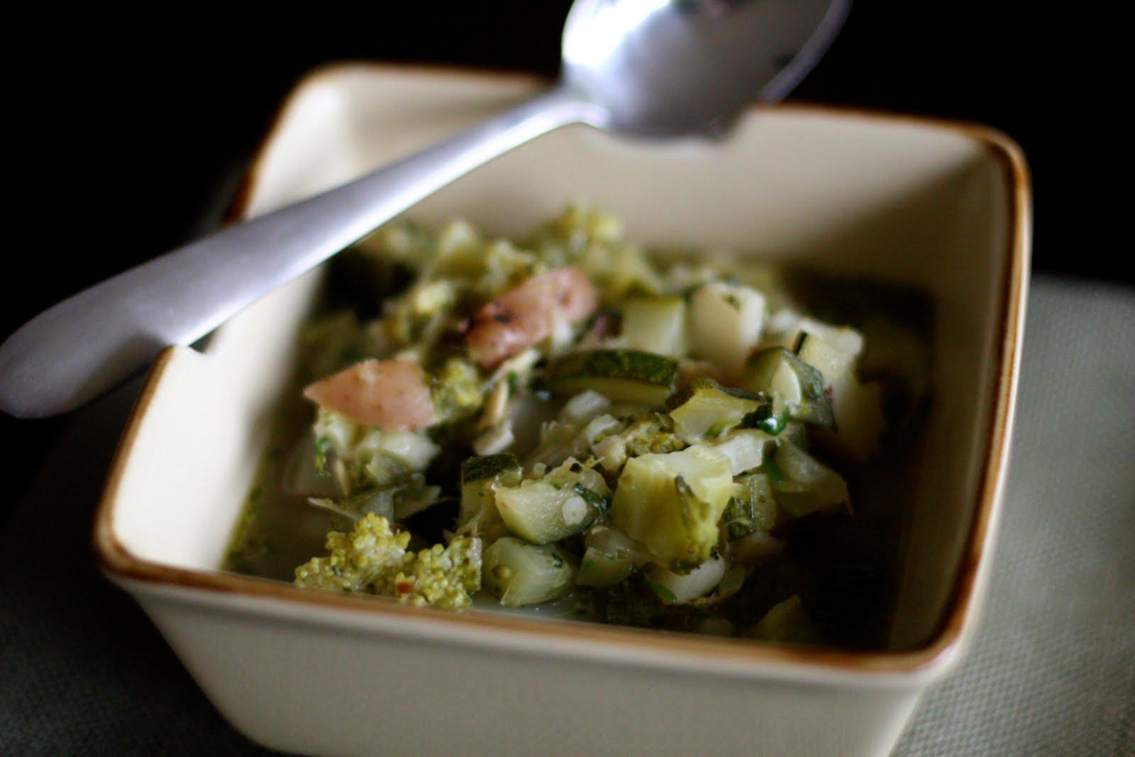 Zucchini and broccoli soup