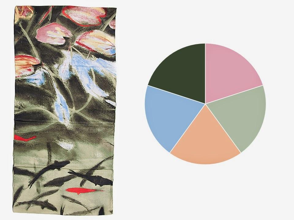 Soft color scheme drawn from Dark Pond, Alhambra, Granada by Elizabeth Blackadder