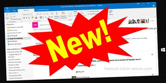 nuevas funciones al iniciar sesión en hotmail