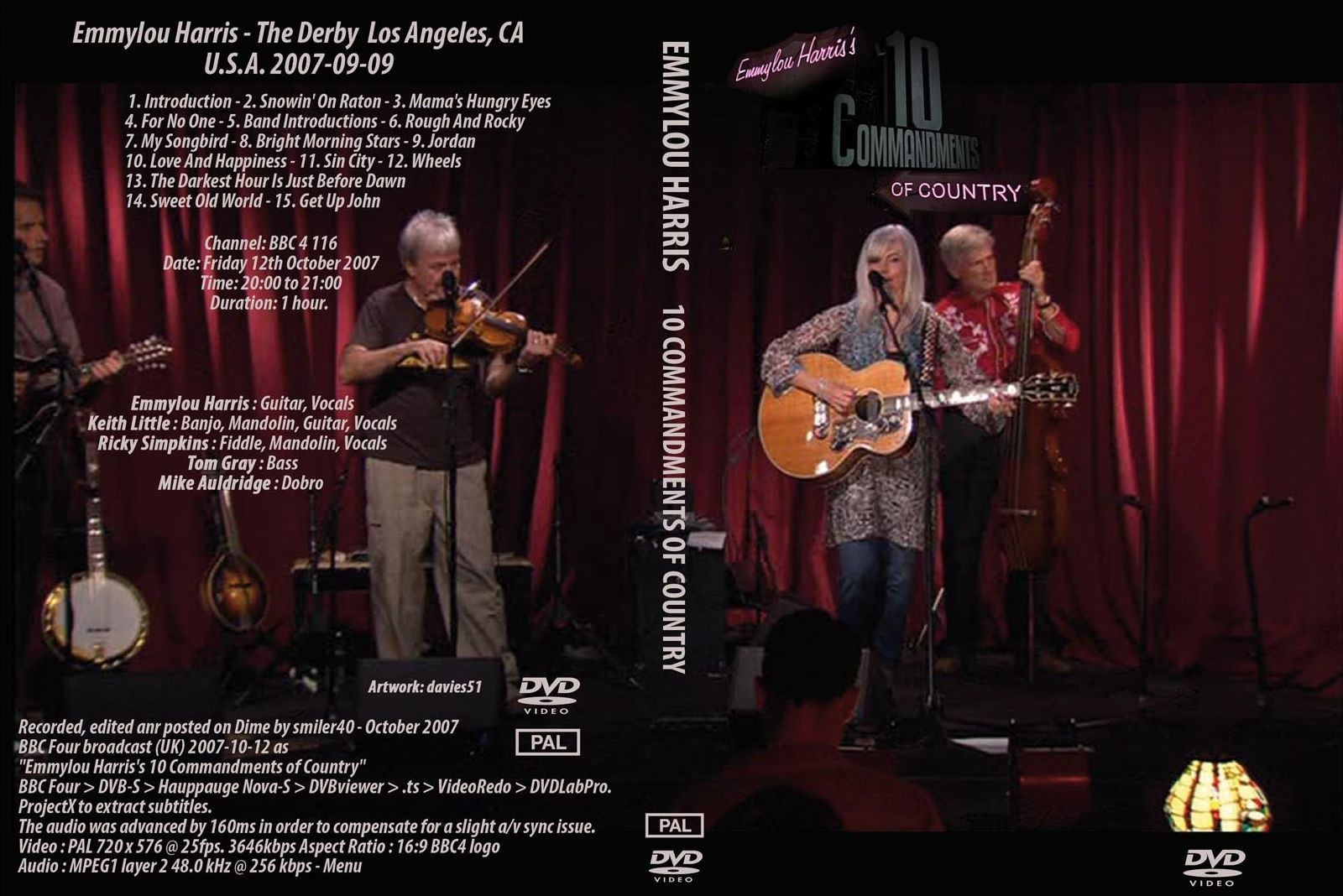 Peter C's Music TV & Video Archives: EMMYLOU HARRIS on DVD Emmylou Harris Country Radio