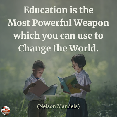 "Quotes About Change To Improve Your Life: ""Education is the most powerful weapon which you can use to change the world."" ― Nelson Mandela"