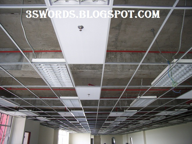 Suspended ceiling - Installation sequence