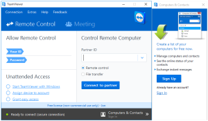 Team Viewer remote desktop access