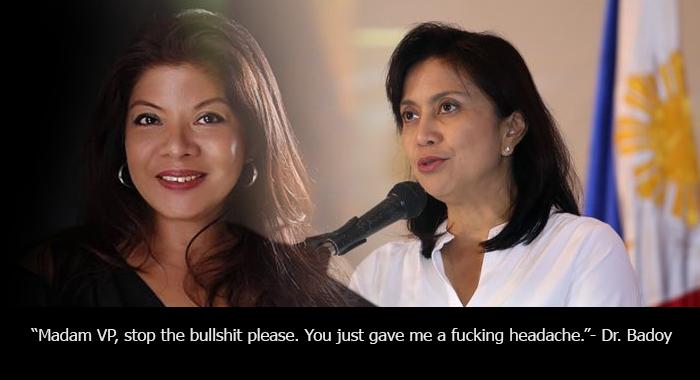 "Daughter of former trial justice slams VP Robredo: ""Madam VP, stop the bullsh*t please"""