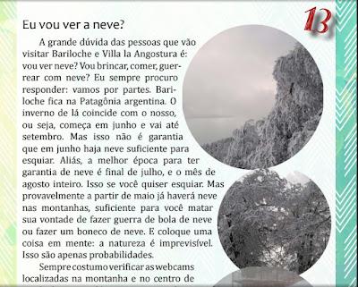 Trecho do Guia sobre Bariloche e Villa la Angostura