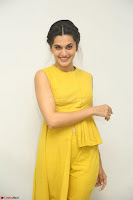 Taapsee Pannu looks mesmerizing in Yellow for her Telugu Movie Anando hma motion poster launch ~  Exclusive 048.JPG