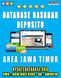 Jual Database Nasabah Deposito Jawa Timur