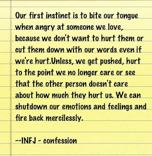 The World We Create: INFJ: The Magic, The Oddness,The Door Slam, And