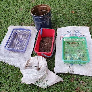 Penyaringan Kompos Siap panen
