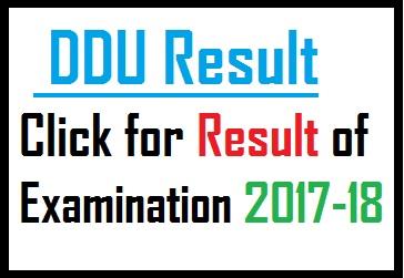 DDU Result Click for Result of Examination 2017-18