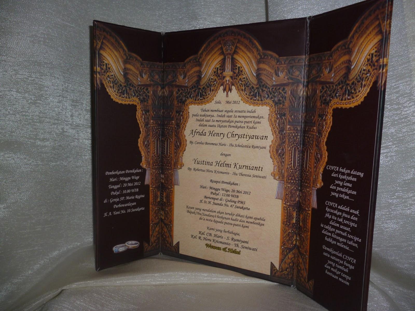 Kartu Undangan Pernikahan Jawa Tradisional Gebyok Enha Hc008