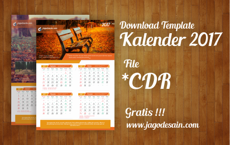 Download Gratis Template Kalender 2017 Terbaru