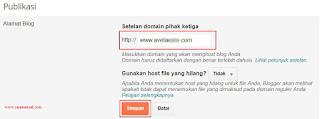 Cara Mengganti Domain Blogspot Menjadi .COM di Niagahoster 2