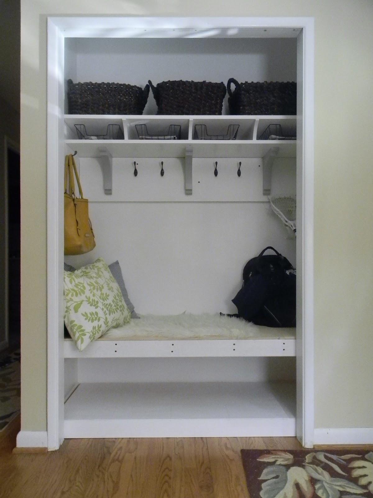The Diligent One Coat Closet To Mini Mudroom Phase Ii