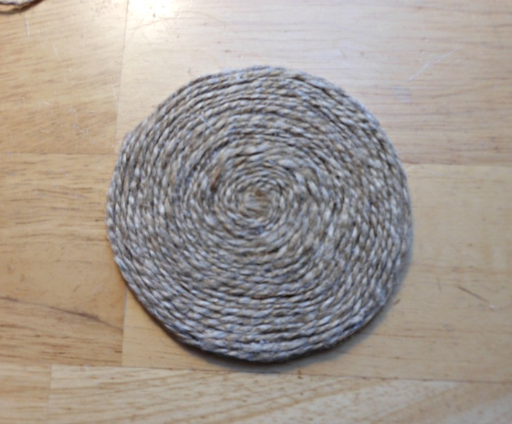 Vintage, Paint and more... twine wrapped nautical coaster