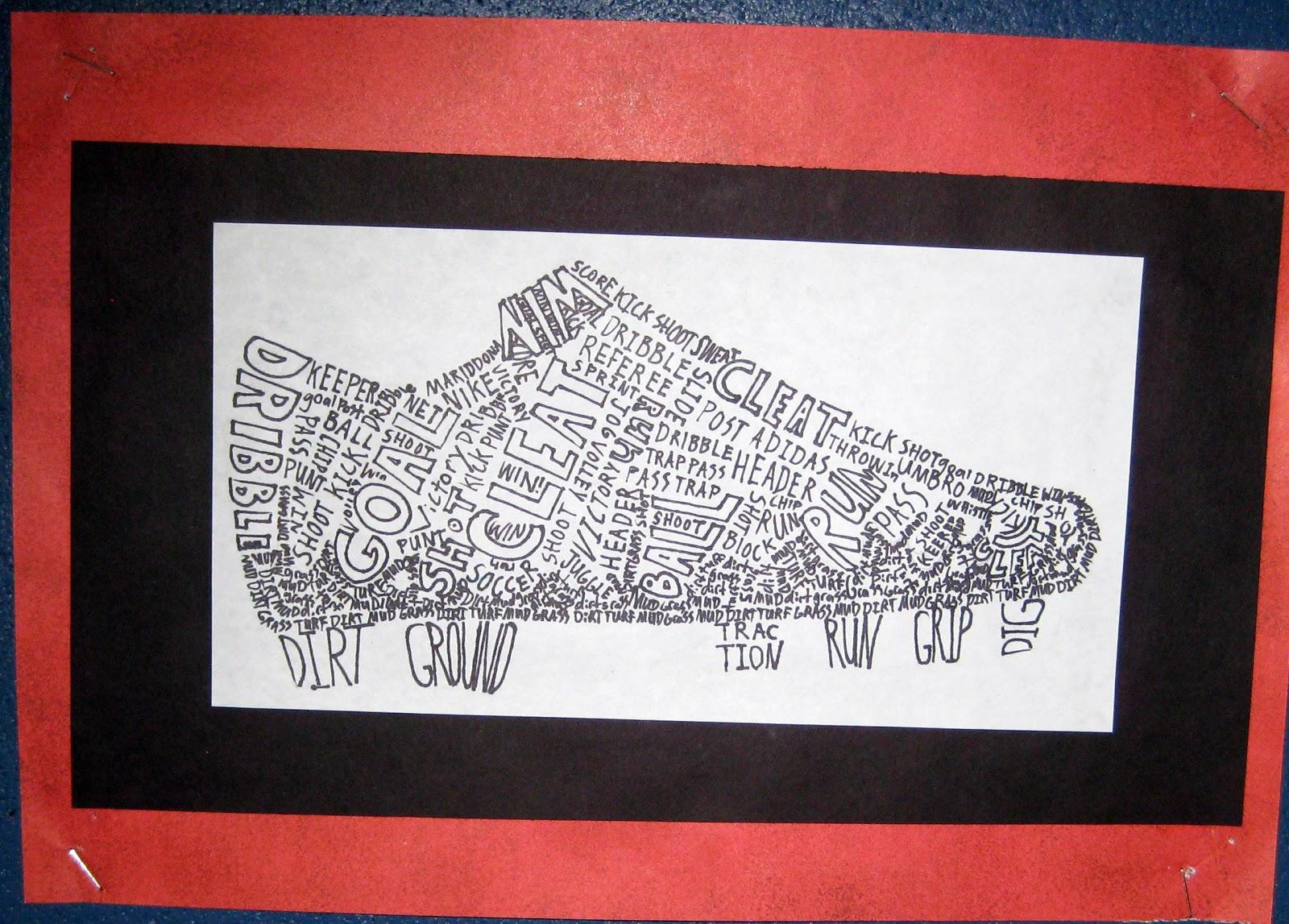 Mrs Art Teacher fun with calligrams – 8Th Grade Art Lesson Plans