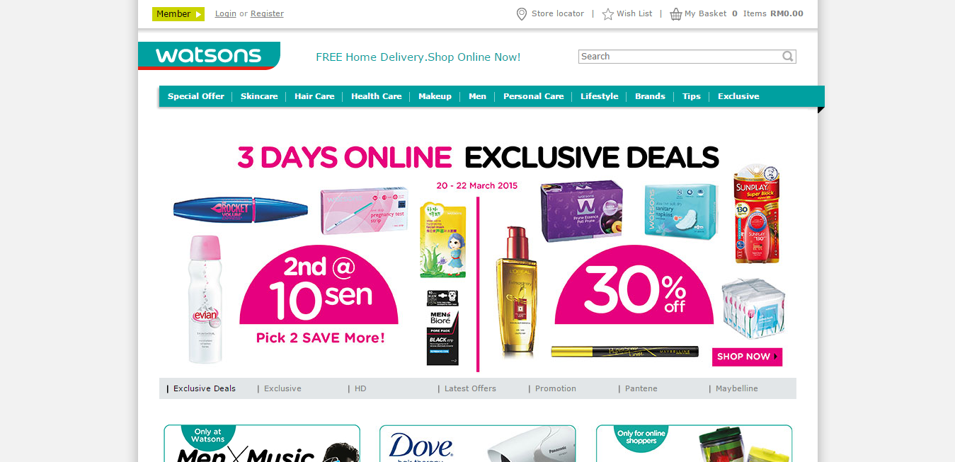 Watsons online store