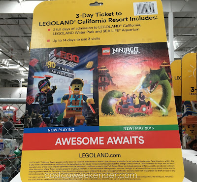 Legoland California 3-day Hopper Ticket - Check out the new  Ninjago The Ride (May 2016)