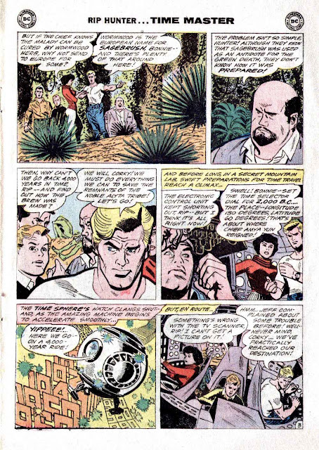 Rip Hunter Time Master v1 #7 dc silver age 1960s comic book page art by Alex Toth