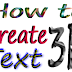How To Create 3D Text In Adobe Photoshop