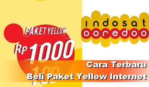 Cara terbaru beli paket internet Yellow Indosat