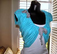 bolero hecho con una camiseta
